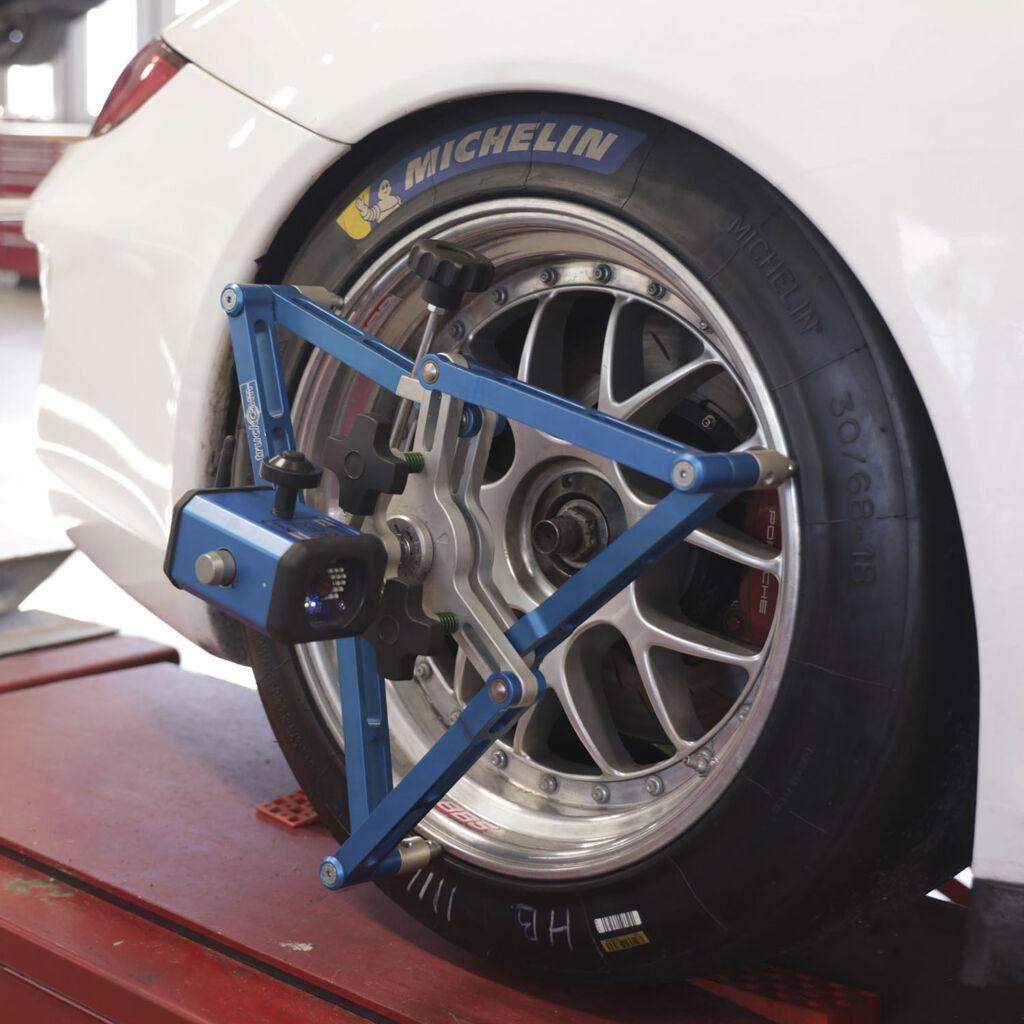 Avancerad hjulinställning Porsche